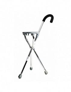 Bastón de aluminio con asiento